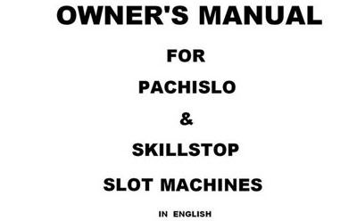 pachislo slot machine manual japanese skill stop