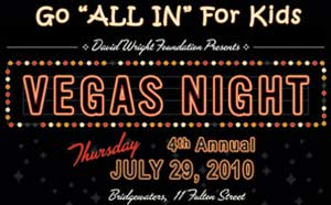 David Wright Foundation Vegas Night Flyer