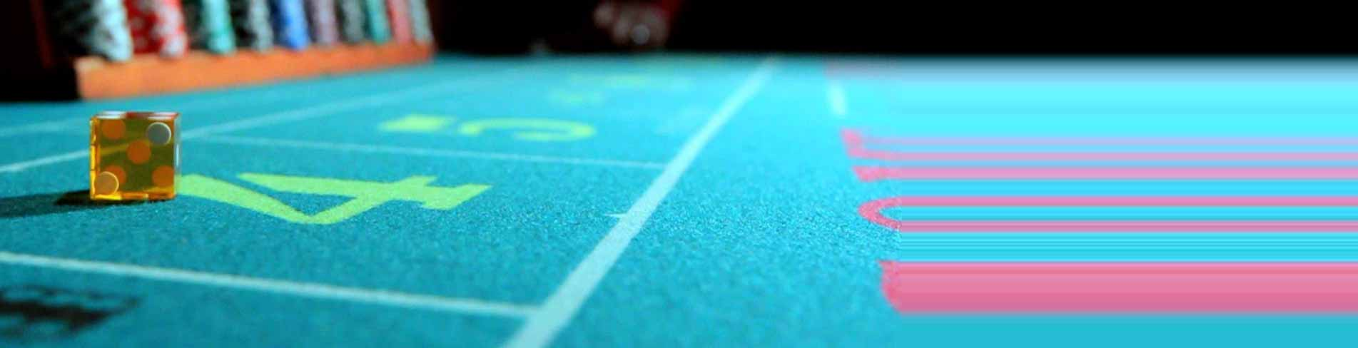 Craps Table with Die