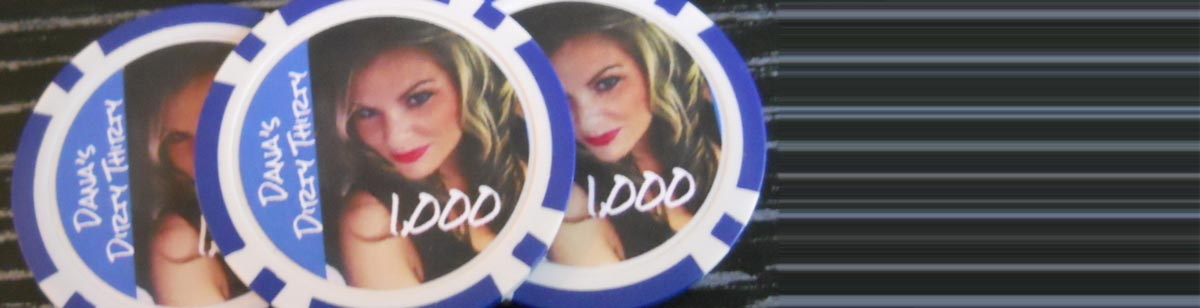Custom Casino Chips for Dana's Dirty Thirty - Mahopac, NY
